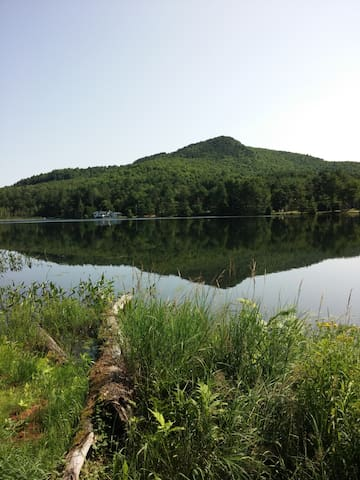 Baker Mt. is an easy .9 mile hike to the top. Start your quest to be a Saranac Lake 6er!     You can also stroll the 1.2 mile paved road  around the pond.