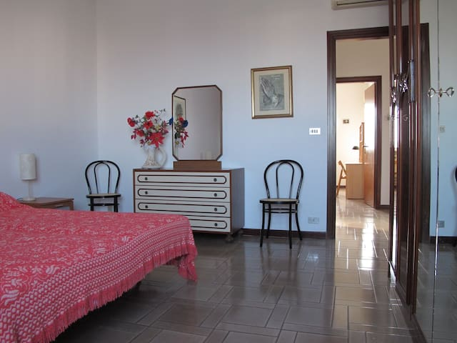 Vilma's room. Your peaceful, comfortable, clean, air-conditioning double bedroom with spacious wardrobe and WiFi free access