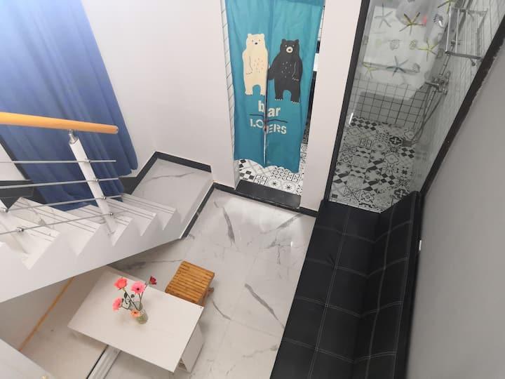独立卫浴城景LOFT-5@市二医院近1号地铁上藤站/上下杭/三坊七巷/中洲岛/烟台山景区/共享厨房