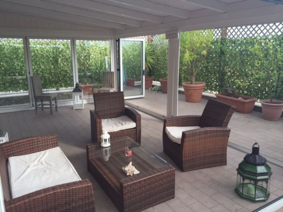 Terrace whit new patio