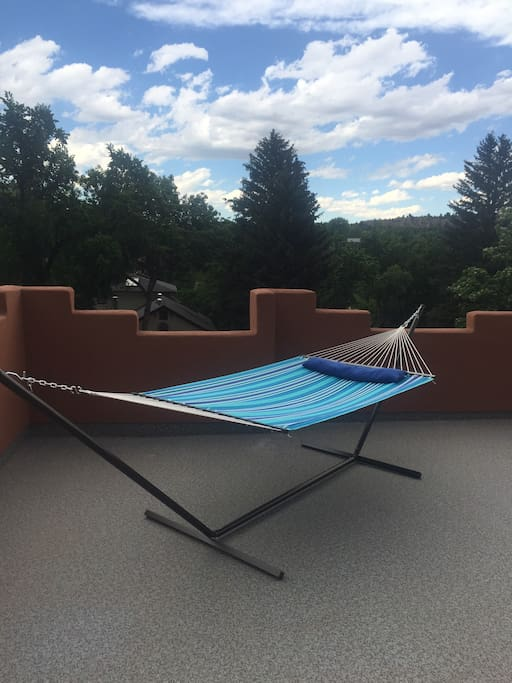 Rest in a hammock on the north facing side of the deck.