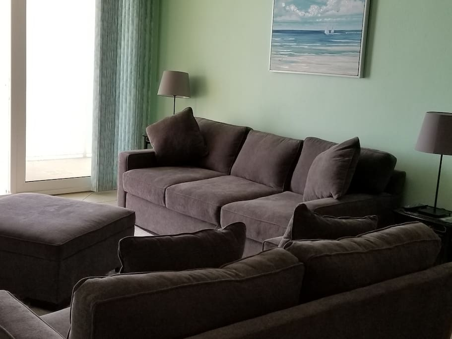 Living Room with new sofa sets