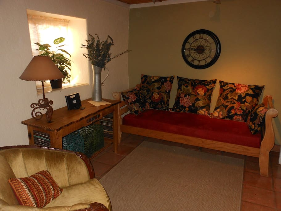 The study with a twin size day bed,