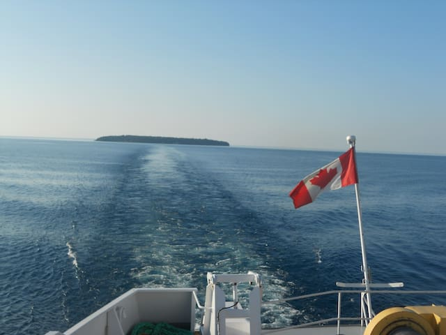 Spectacular views from the deck of the Chi-Cheemaun on its run to Manitoulin Island.