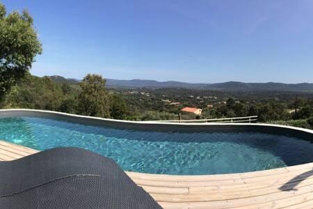 Suite piscine chauffée & vue panoramique ! - Porto-Vecchio