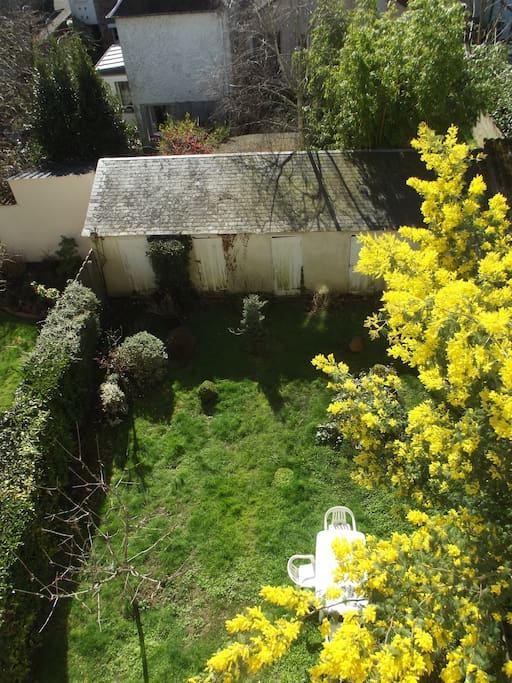 Le jardin privatif vu de haut