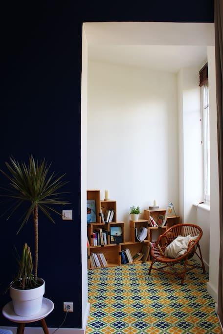 Bibliothèque et verdure