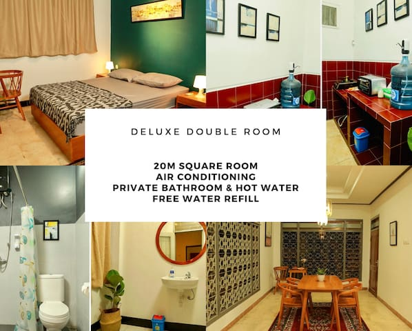 Terima Kasih Double bed with hot water and AC