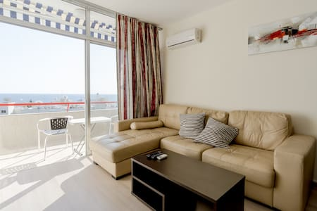 UC22 1 BR Мodern flat w/seaview - Agios Tychon