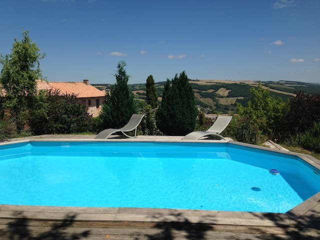 Country house with swimming pool - Laval-Roquecezière - Дом