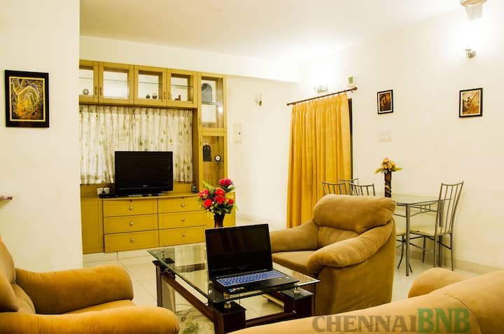 Furnished 2 bedroom apartment.