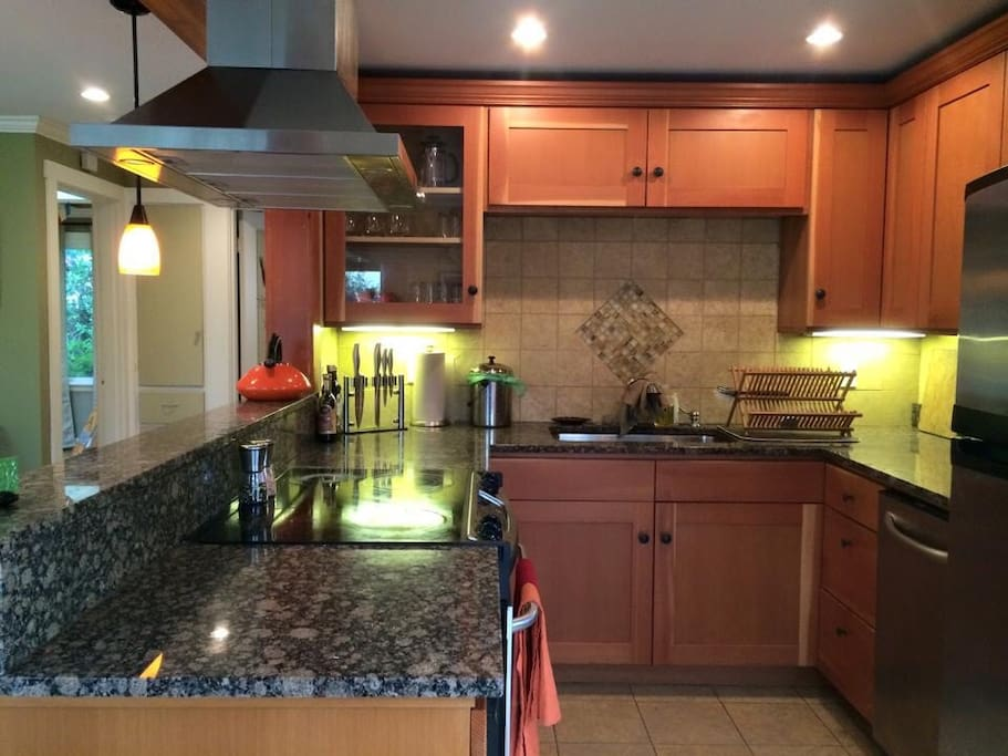 Granite countertops, stainless steel appliances and radiant floor heat.