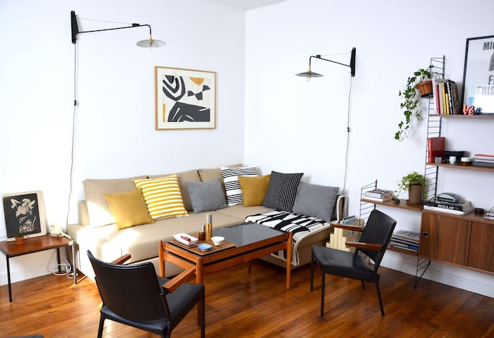 Cosy & Design near Batignolles - 2p - Parijs - Appartement
