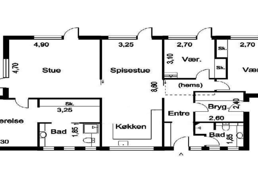House layout (majority of it)