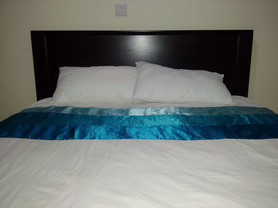 Queen size bed. Perfect for couples