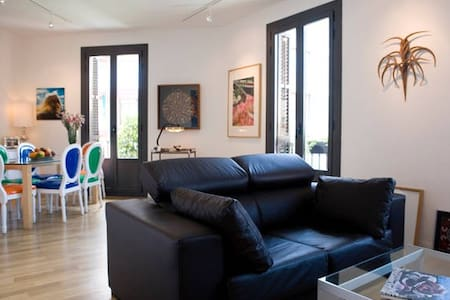 Luxury Double Room with Private Bath and Balcony - Барселона - Квартира