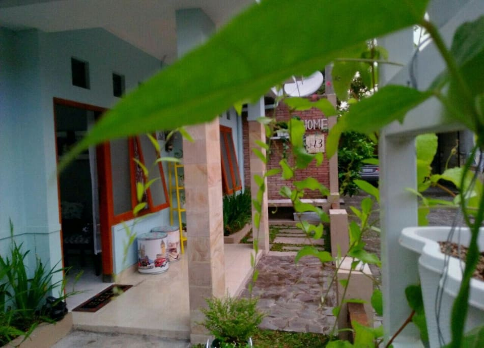 in front of house - teras