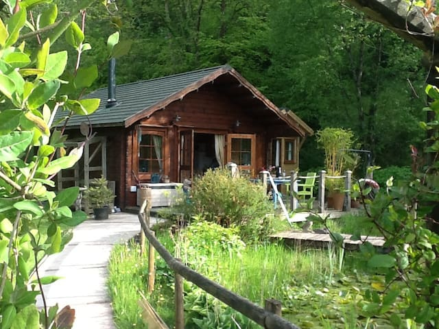 Cosy Log Cabin near Carmarthen - Llangain - Stuga