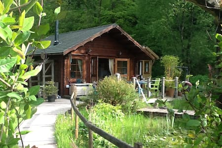 Cosy Log Cabin near Carmarthen - Llangain - Srub