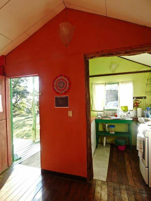 Bright entrance and kitchen