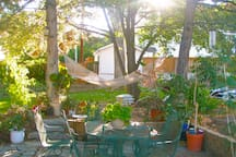 Patio with Hammock for Relaxing