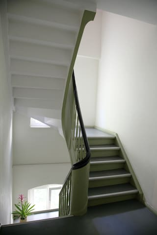 the staircase is from 1836 and is under protection