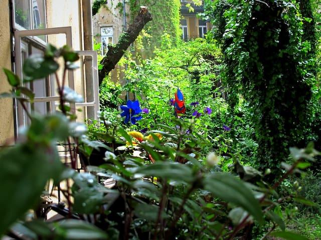 quiet flat & nice garden in center - Budapeszt - Apartament