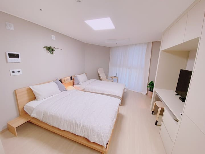 ✔ NEW OPEN3:) 호호하우스/광안리해변위치/비지니스/Netflix/매일소독