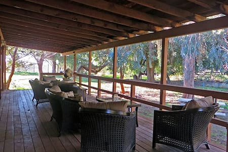 The Rustic Ranch House at Chateau Margene Winery - Creston