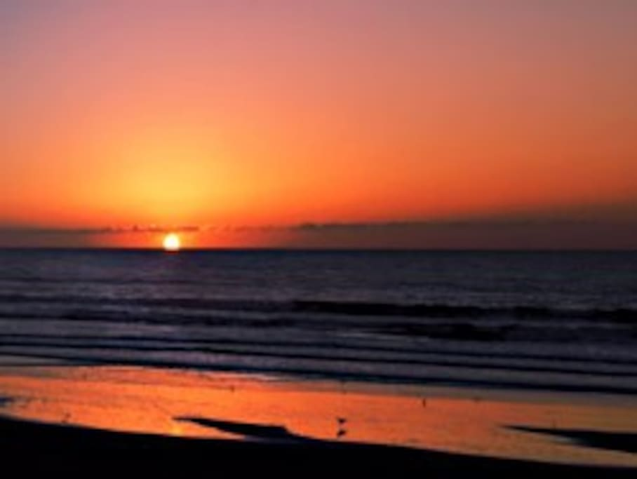 Sunsets are stunning and brillient from beach and beach house