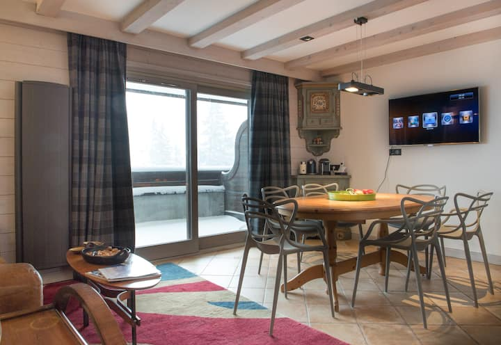 Modern 2 bedroom  apartment 24A, Courchevel 1850