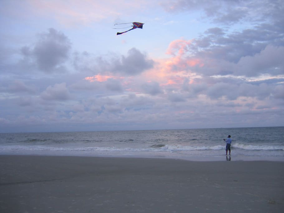 Great beach for kite flying.