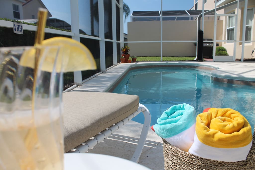 Relax your day away by the pool with some refreshing lemonade