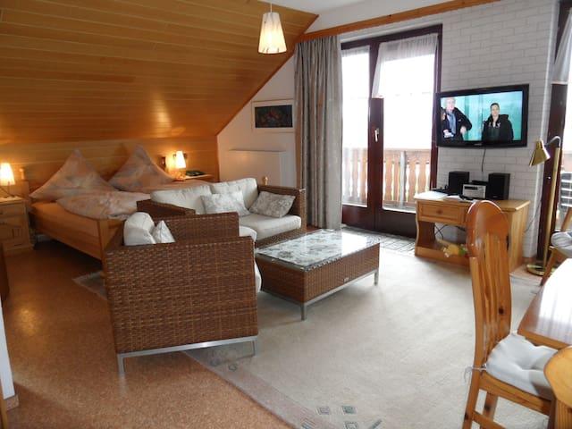 Pension Haus am Sonnenhang (Waldeck) -, Ferienwohnung 3 Edersee, 45 qm, 1 Schlafraum, max. 3 Personen, mit Balkon