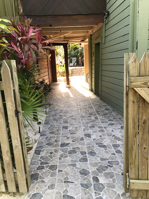 Walkway to the guest house