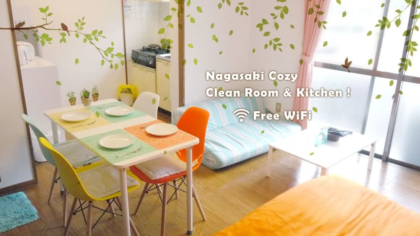 Close to the city but quiet・cozy:) tram stop 2min - Nagasaki-shi - Appartement