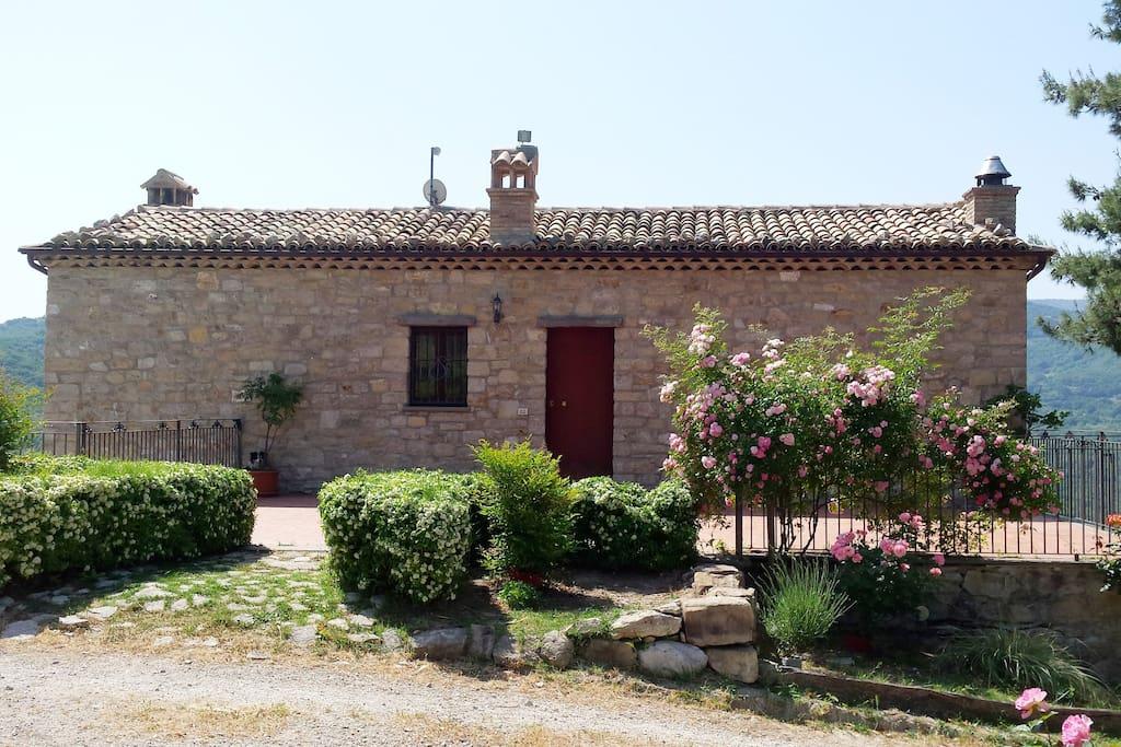 Casa vista dall'esterno