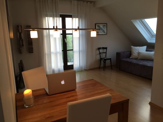 Cozy bright home with great views - Wiesbaden - Condominium