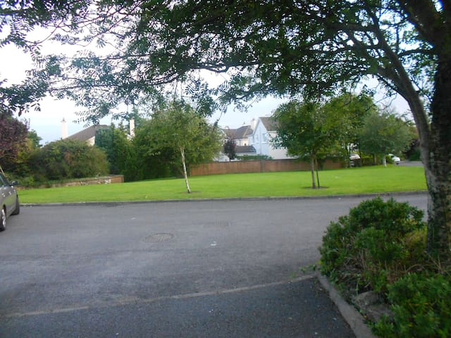 View of green in front of House.