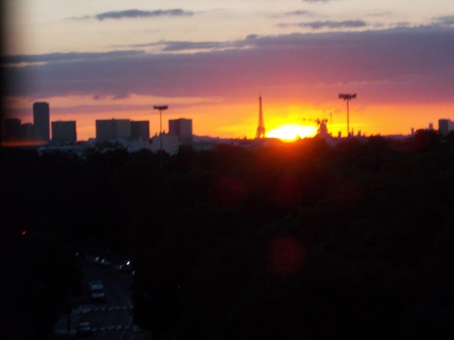 une superbe vue sur l'Ouest de Paris !