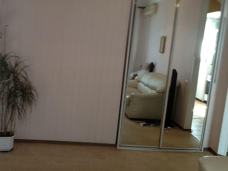 Комната со встроенным шкафом-купе