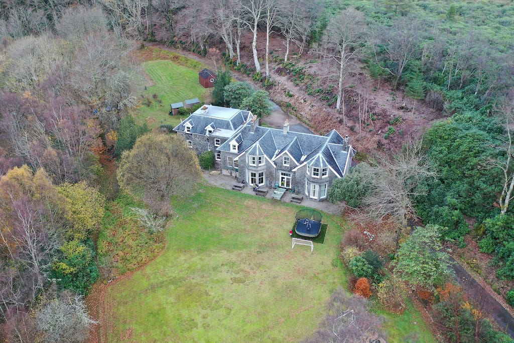 Drone image of Ardvullin House