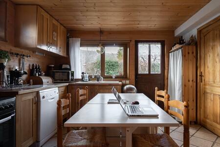Appartement cosy dans chalet - Terrasse, jacuzzi -