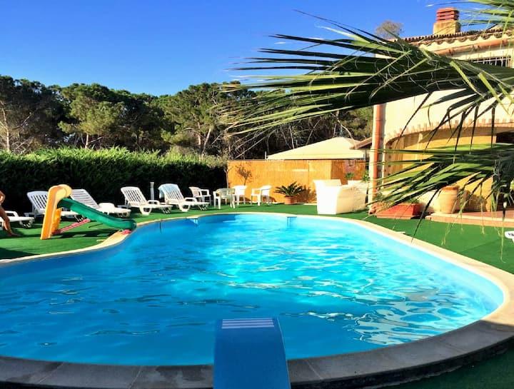 Appartamento in villa con piscina parcheggio bbq