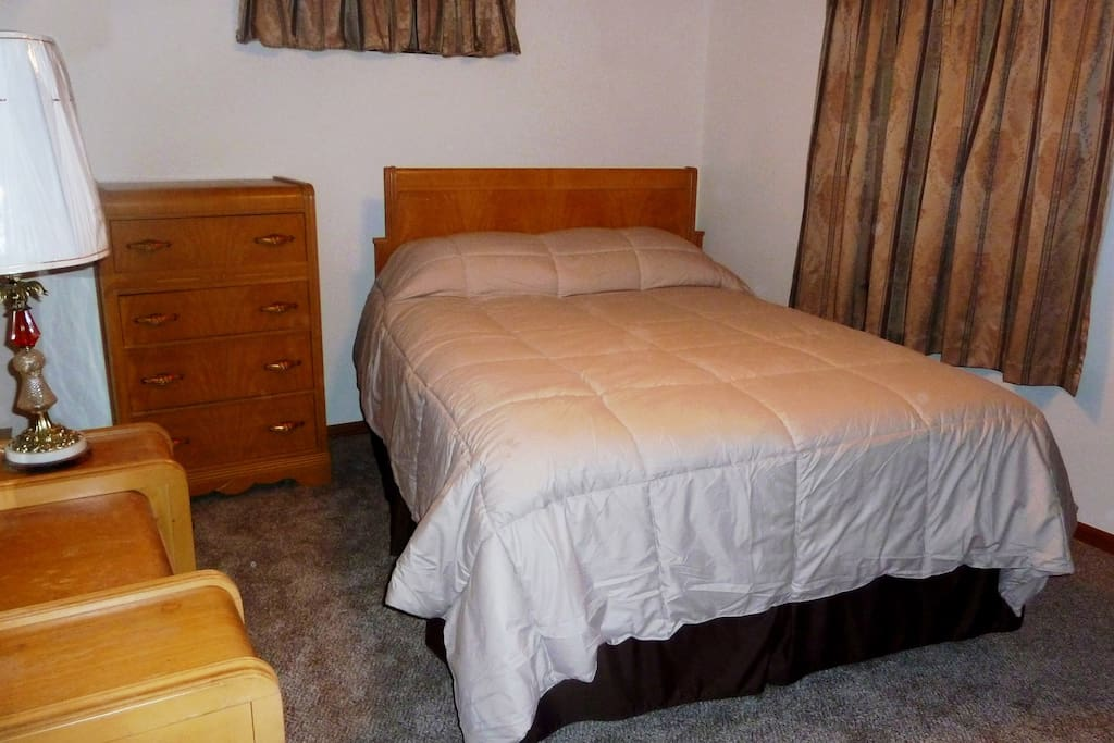 Queen size bed with new pillow top mattress