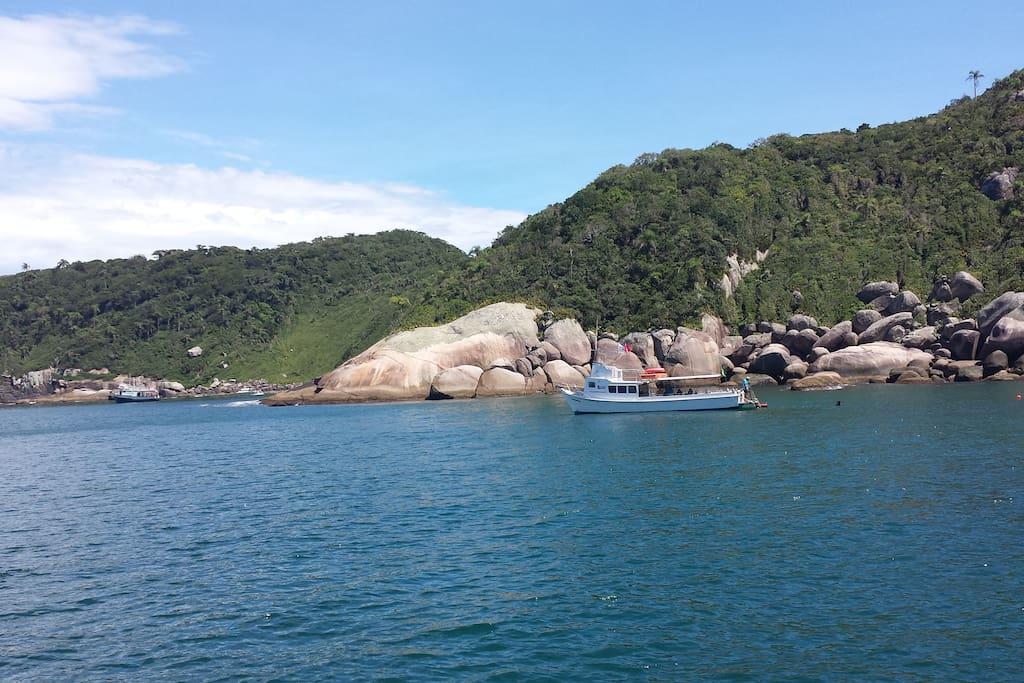 barco e mergulho
