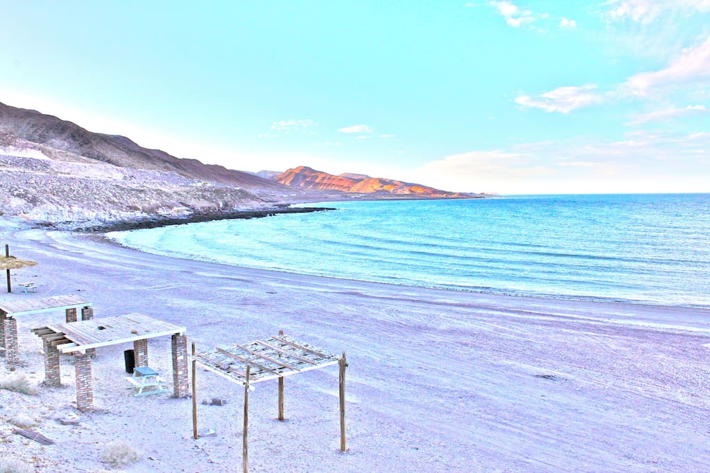 Stairs lead directly to a sandy beach and the warm waters of the Sea of Cortez.  You may well have the beach entirely to yourself.