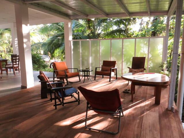 Our veranda, a great place to lounge