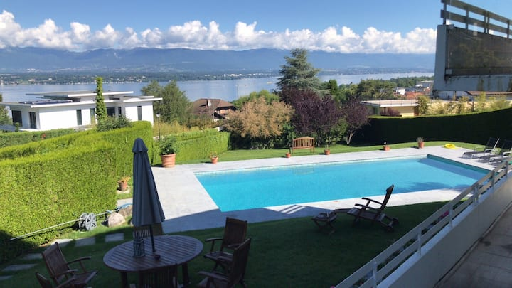 Luxury Villa in Cologny, Geneva. Aircon and pool.