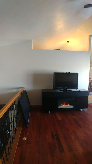 fireplace and tv in living room. Free for anyone to use. shared living room